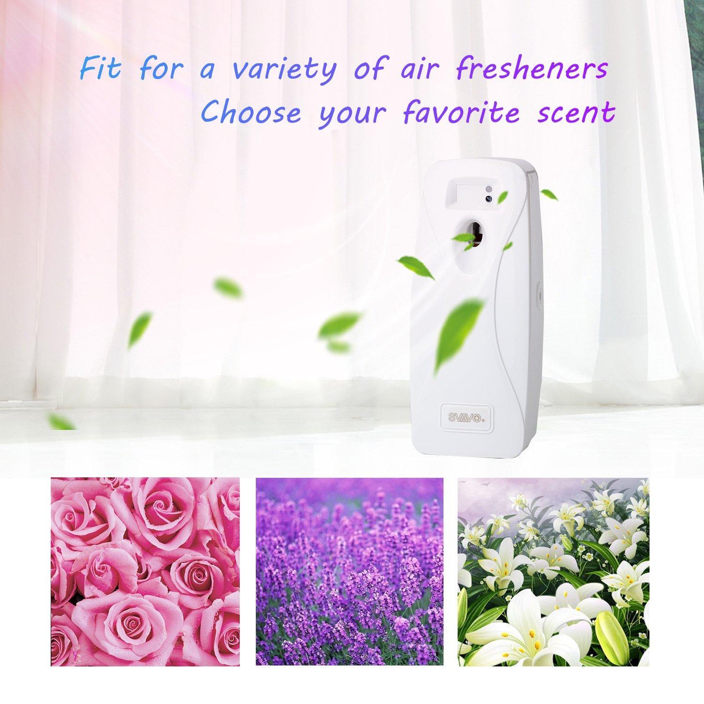 SVAVO V-251 ABS Plastic Automatic Aerosol Dispenser Air Freshener Spray Dispenser, White, Pack of 1 by SVAVO (Image #5)