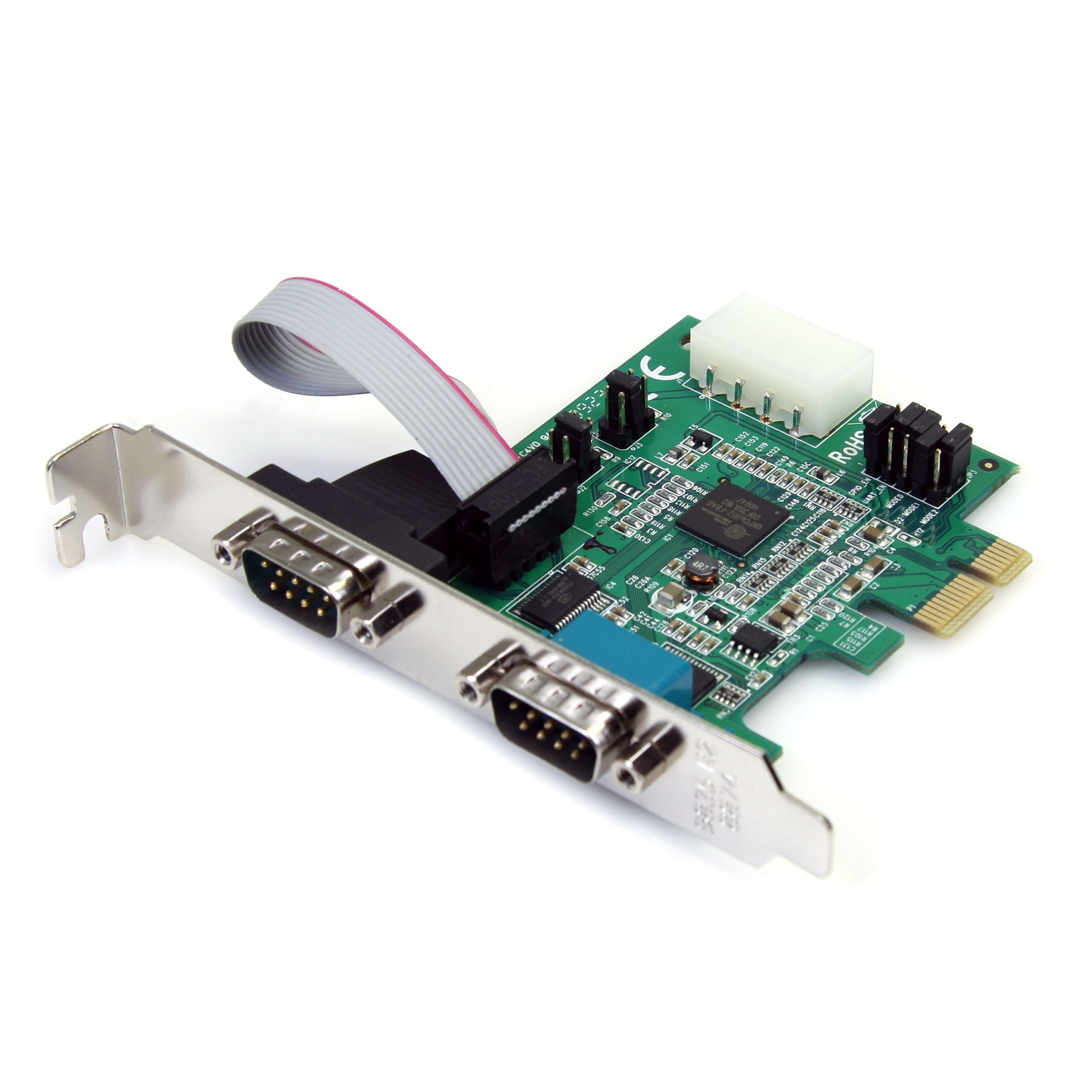 StarTech.com 2 Port Native PCI Express RS232 Serial Adapter Card with 16950 UART (PEX2S952) by StarTech