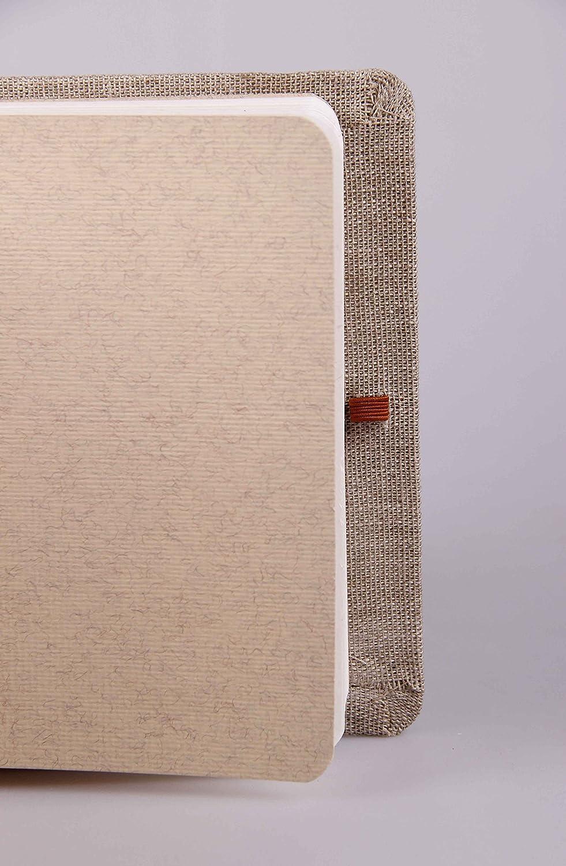 couverture toil/ée Clairefontaine 96108C Goldline Voyage carnet cousu 30F 14,8x21cm 180g /à grain Blanc
