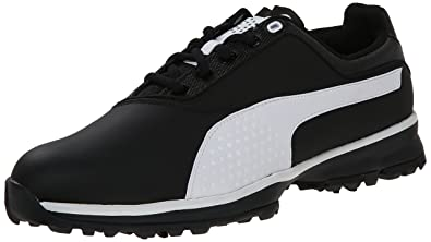 PUMA Men's Titanlite Golf Shoe, Black/White, ...