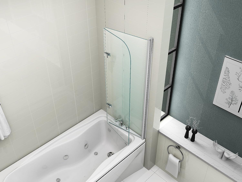 Pannelli Per Vasca Da Bagno Prezzi : Hnnhome pannello vasca da bagno doccia singolo in vetro 6mm girevole