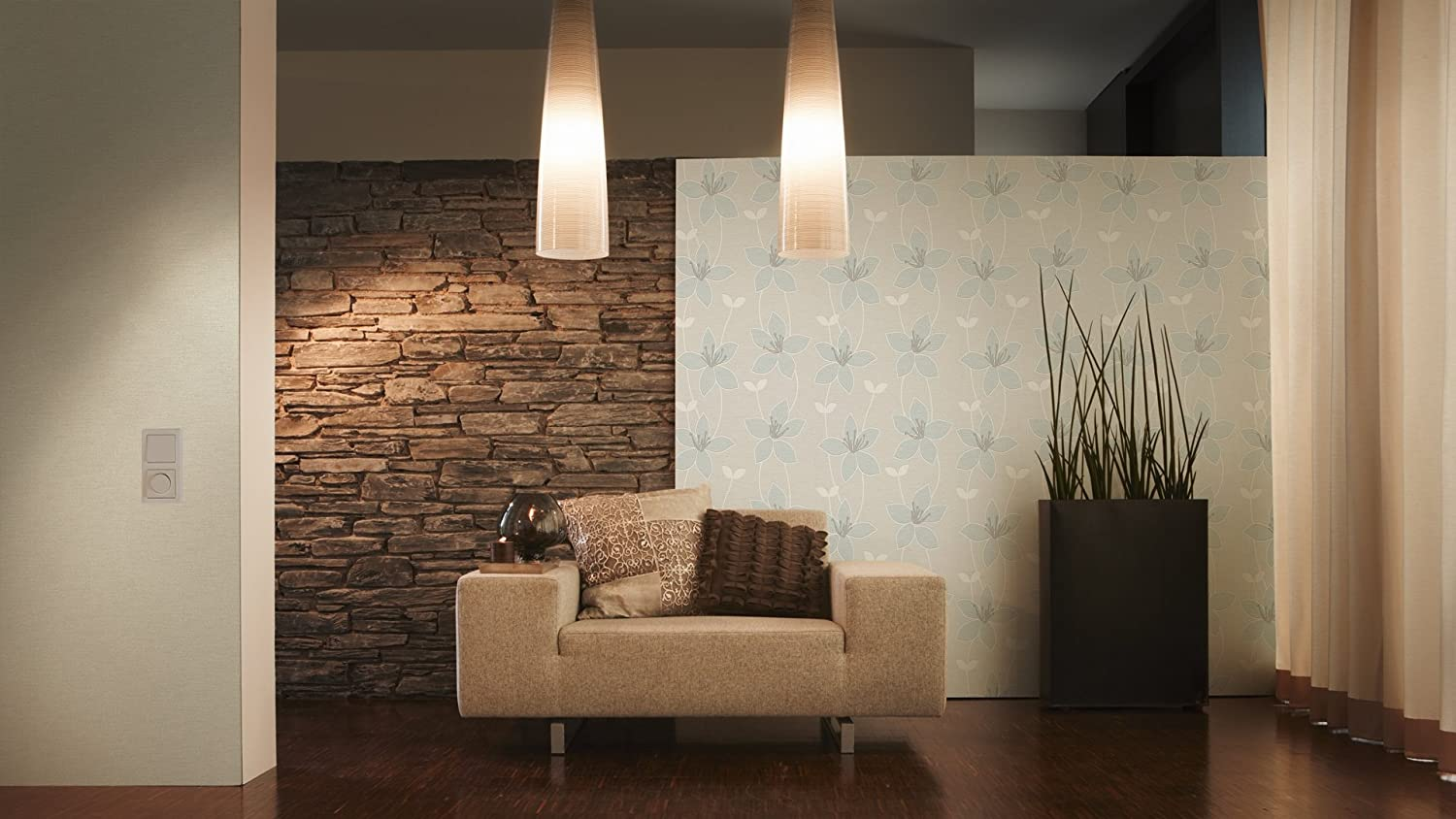 300991 A.S Cr/éation Non-Woven Wallpaper Paloma Floral Patterned Wallpaper Beige//Cream//White 300991