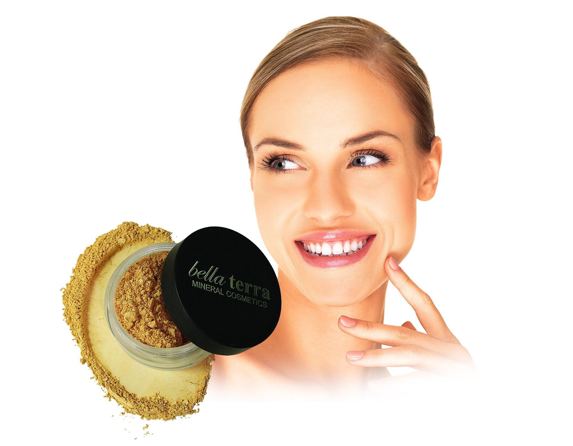 Bella Terra Cosmetics Foundation Brush Beauty Ql Cosmetic Eyebrow Cream 15 Gr Mineral Powder Long Lasting All Day Wear Buildable Sheer