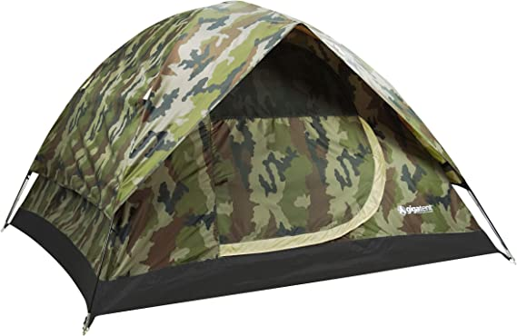 GigaTent Camouflage Dome 3-4 Person Camping Pop-Up Tent – Spacious