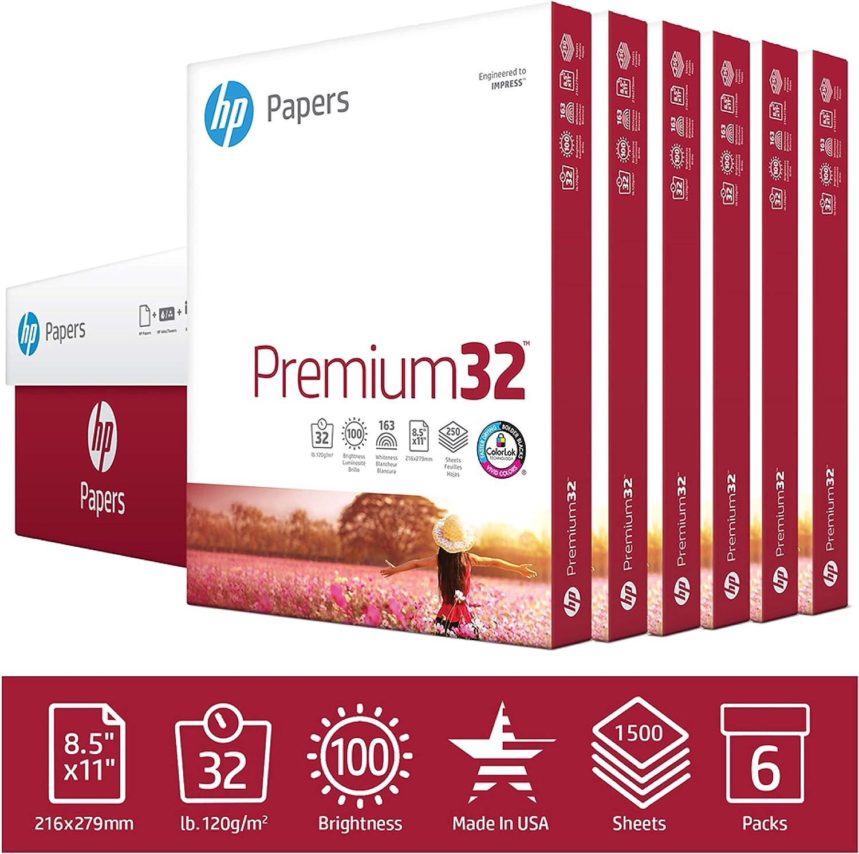 Premium32 8.5 x 11 Paper HP Printer Paper 100 1 // 32 lb Paper Letter Size