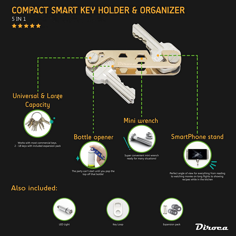 Amazon.com : Key Organizer - Smart & Compact Key Holder | 2-24 Keys ...