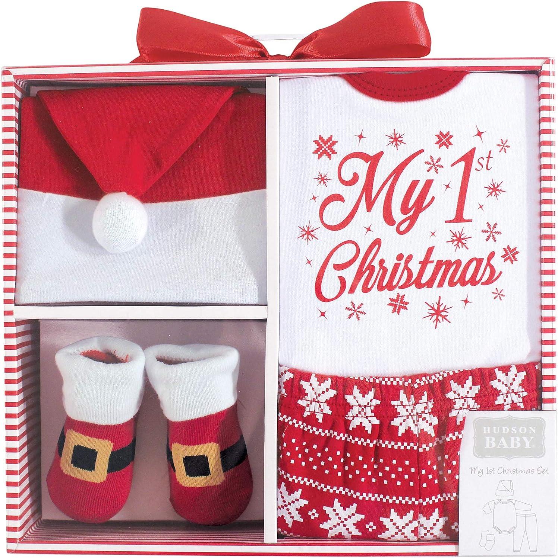 Hudson baby Baby-Girls Holiday Box Set Layette Set