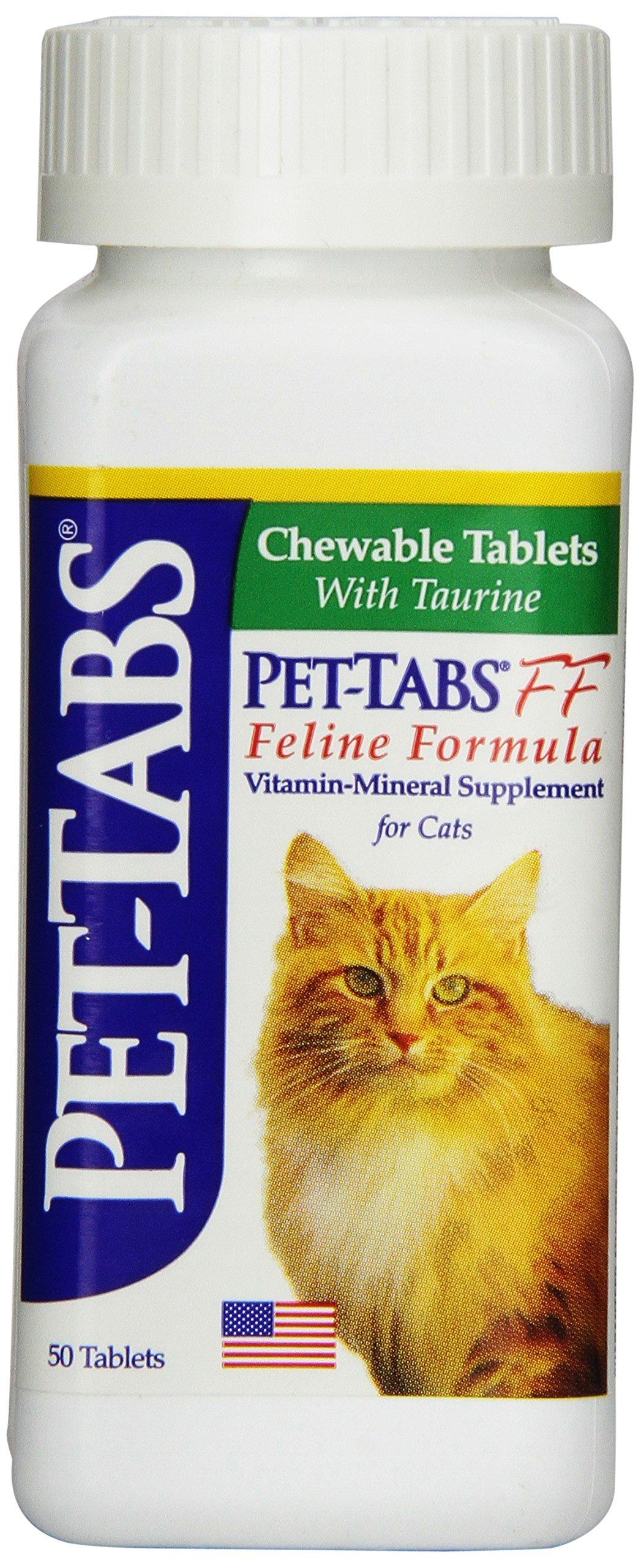 Pet-Tabs FF (Feline Formula), 50 ct. (Made in USA) by Virbac