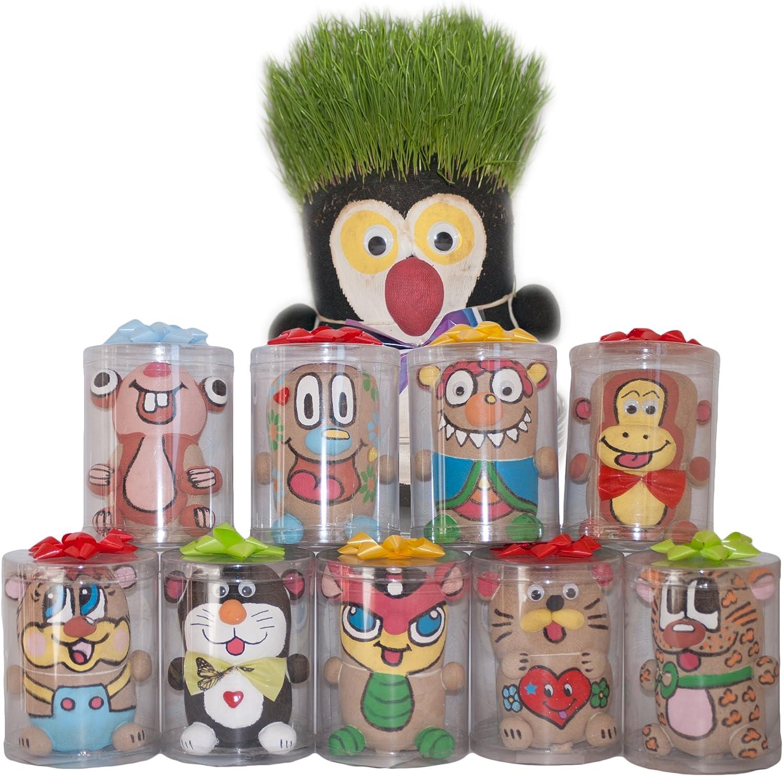 Dazoriginal Cabeza de Hierba Animales Grass Head DIY Magia Maceta ...