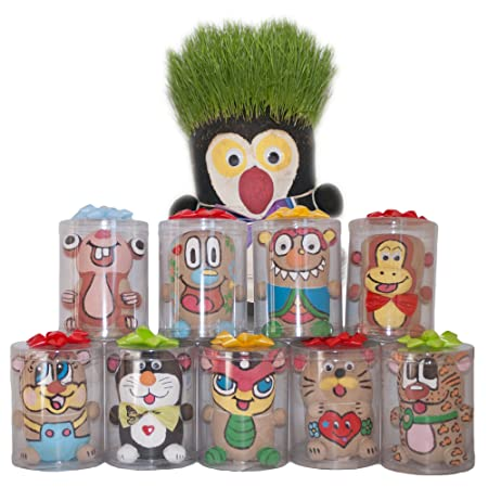 Dazoriginal Cabeza de Hierba Animales Grass Head DIY Magia Maceta ...