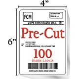 """JETZAP Pre-Cut 4"""" x 6"""" [15x10cm] Laser/Ink Jet Printer White Shipping Labels Load-Ready [Not in Sheets] Adhesive Sticker…"""