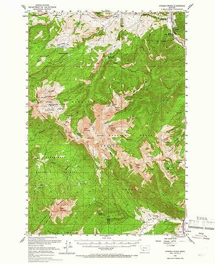 Elevation Map Of Spain.Amazon Com Yellowmaps Spanish Peaks Mt Topo Map 1 62500 Scale 15