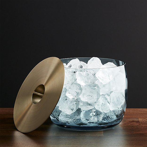 Orb Aqua Ice Bucket | Crate and Barrel