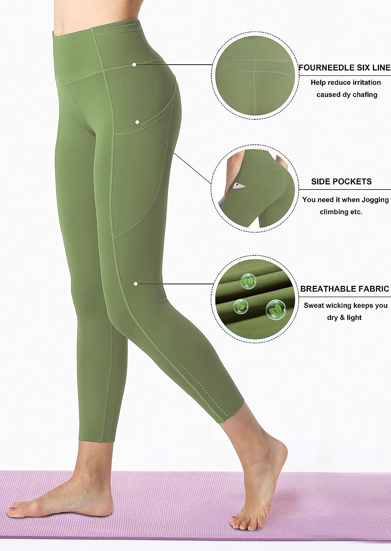 slimour Women Fleece Lined Leggings with Pockets Winter Leggings Thermal Hiking Leggings Gym