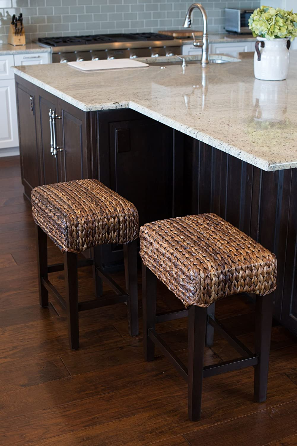 Beau Amazon.com: Bird Rock Home Seagrass Backless Counter Stool | Set Of 2 |  Handwoven | Natural Fibers | Fully Assembled: Kitchen U0026 Dining