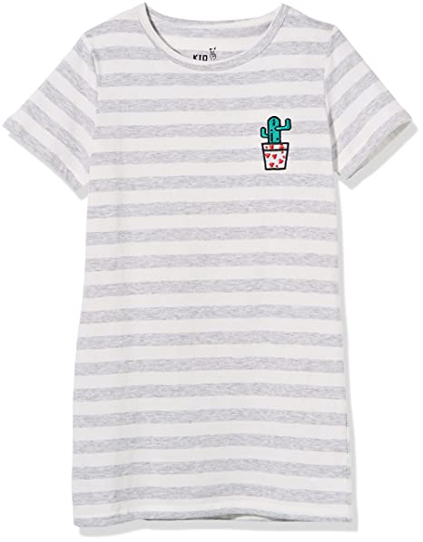 8d077048ff23 Amazon.com: Kid Nation Girls' Cotton Crew-Neck Short-Sleeve Stripe ...
