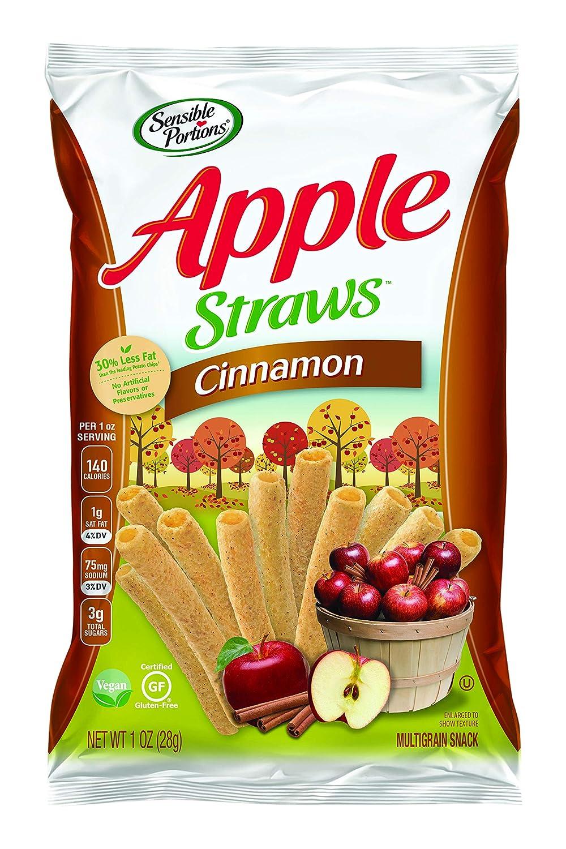 Sensible Portions Straws Apple Cinnamon, Snack Size, 1 oz, 24 Count