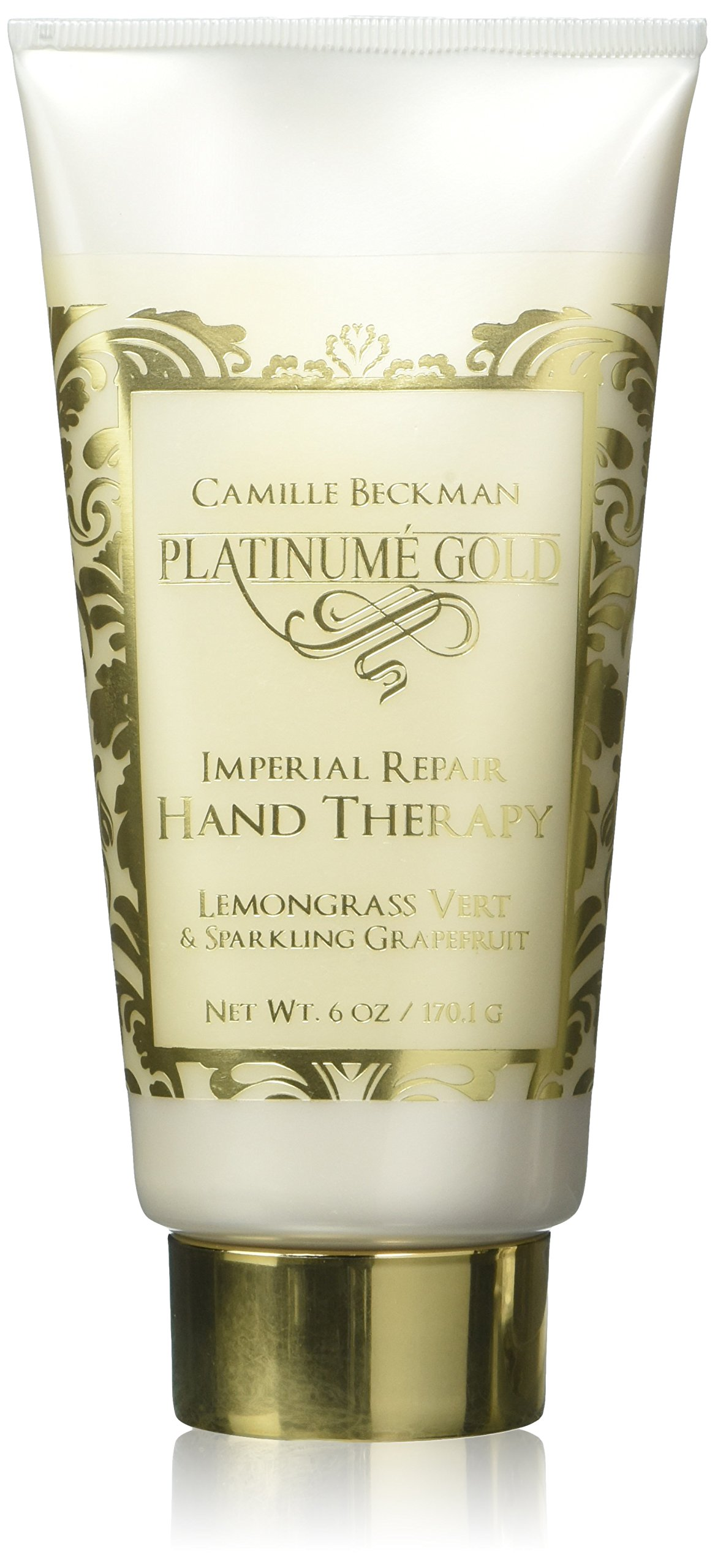 Camille Beckman Platinume Gold Imperial Repair Hand Prime Skin And Lotion Therapy Lemongrass Vert Sparkling Grapefruit 6 Oz Beauty