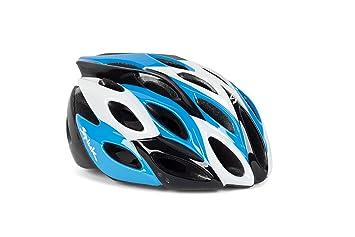 Spiuk Zirion - Casco de ciclismo, color azul/negro / blanco, talla 53