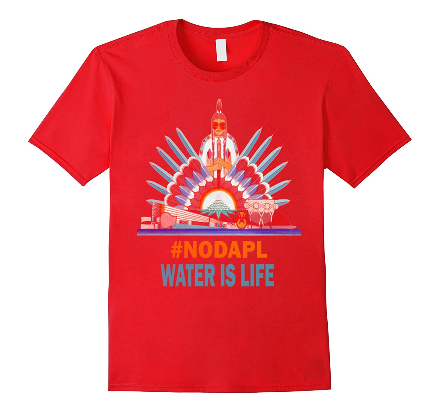 #NODAPL Water is Life Standing rock Sioux Tribe Tshirt-BN