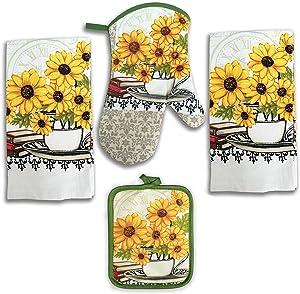 Lobyn Value Packs 4 Pack Kitchen Linens (Sunflower)