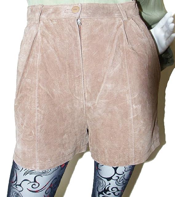 Echtes Leder Shorts Wildleder Rauhleder Damen Shorts kurze Hose Gr 36 (36) 5ef26d1319