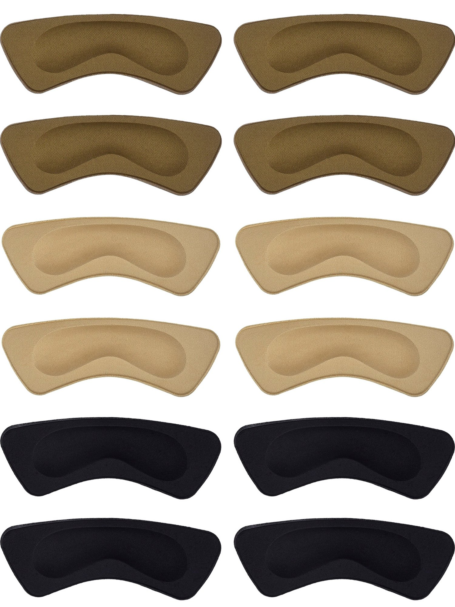 Hotop 6 Pairs Heel Cushion Pads Heel Shoe Grips Liner Self-Adhesive Shoe Insoles Foot Care Protector (Multicolor)