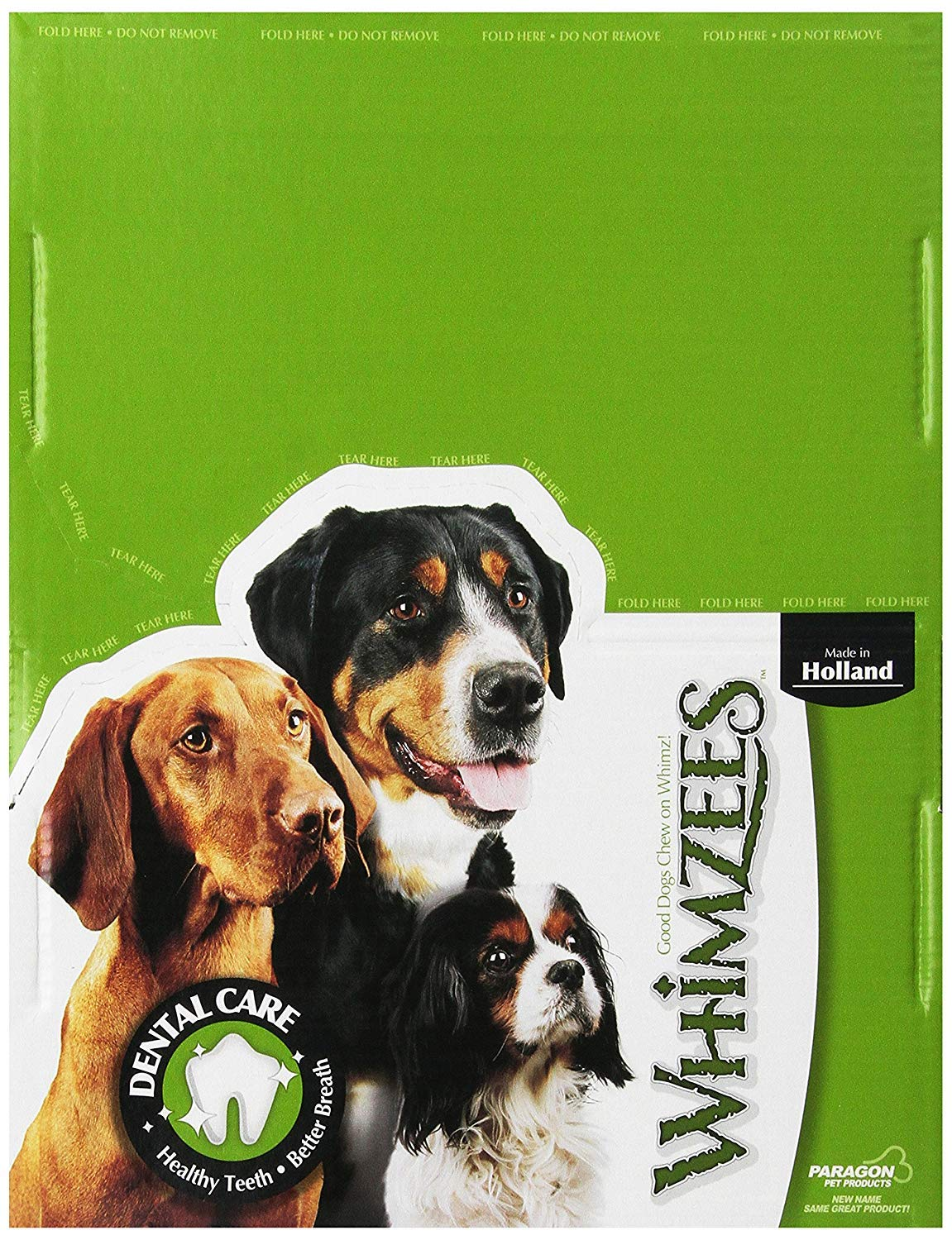 Paragon Whimzees Alligator Dental Treats For Dogs, Display Box