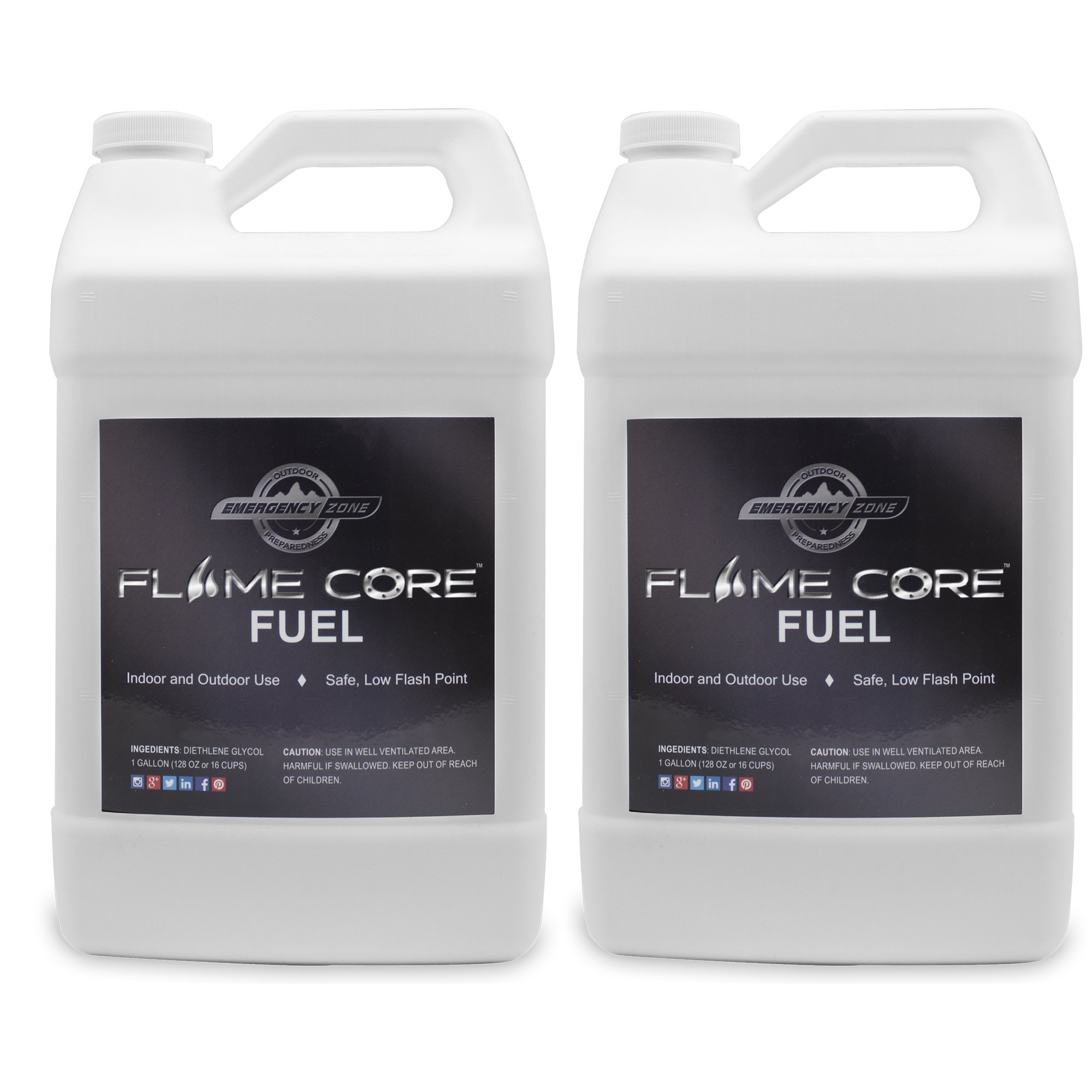 Emergency Zone FlameCore Reusable Fuel Cell Gallon Fuel Refill, Choose 1 or 2 Pack (FlameCore Fuel Gallon Refill, 2 Pack) by Emergency Zone