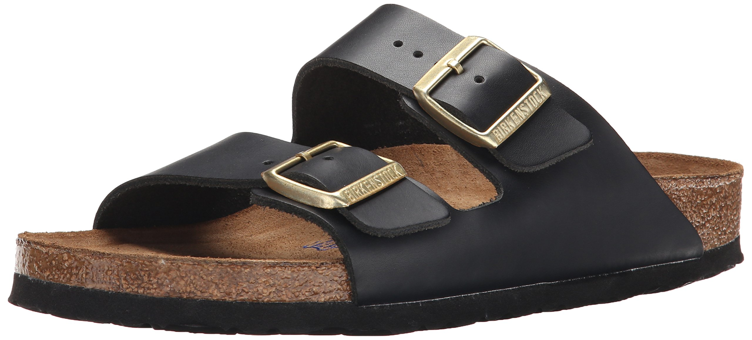 Birkenstock Unisex Arizona Hunter Black Leather Sandals - 9-9.5 2A(N) US Women/7-7.5 2A(N) US Men
