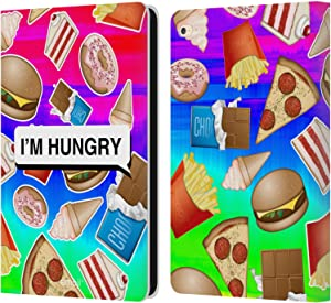 Head Case Designs Officially Licensed Emoji Hungry Food Leather Book Wallet Case Cover Compatible with Apple iPad Air 2 (2014)