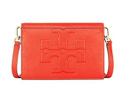 a93d4941320a Image Unavailable. Image not available for. Color  Tory Burch Bombe T Combo Leather  Cross Body Bag Women s Leather Handbag (Poppy Red)