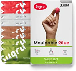 Sugru Mouldable Glue - Family-safe | Skin-friendly Formula - Earth Colours 8-Pack