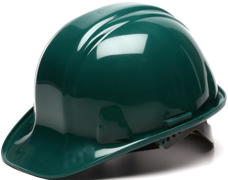 Pyramex Safety SL Series Cap Style Hard Hat White 6-Point Snap Lock Suspension