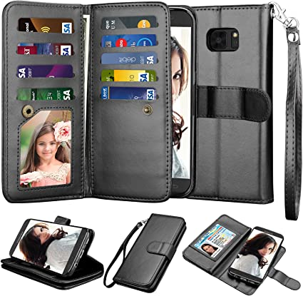 Samsung Galaxy S7 Edge Flip Case Cover for Leather Wallet case Kickstand Card Holders Luxury Business Flip Cover