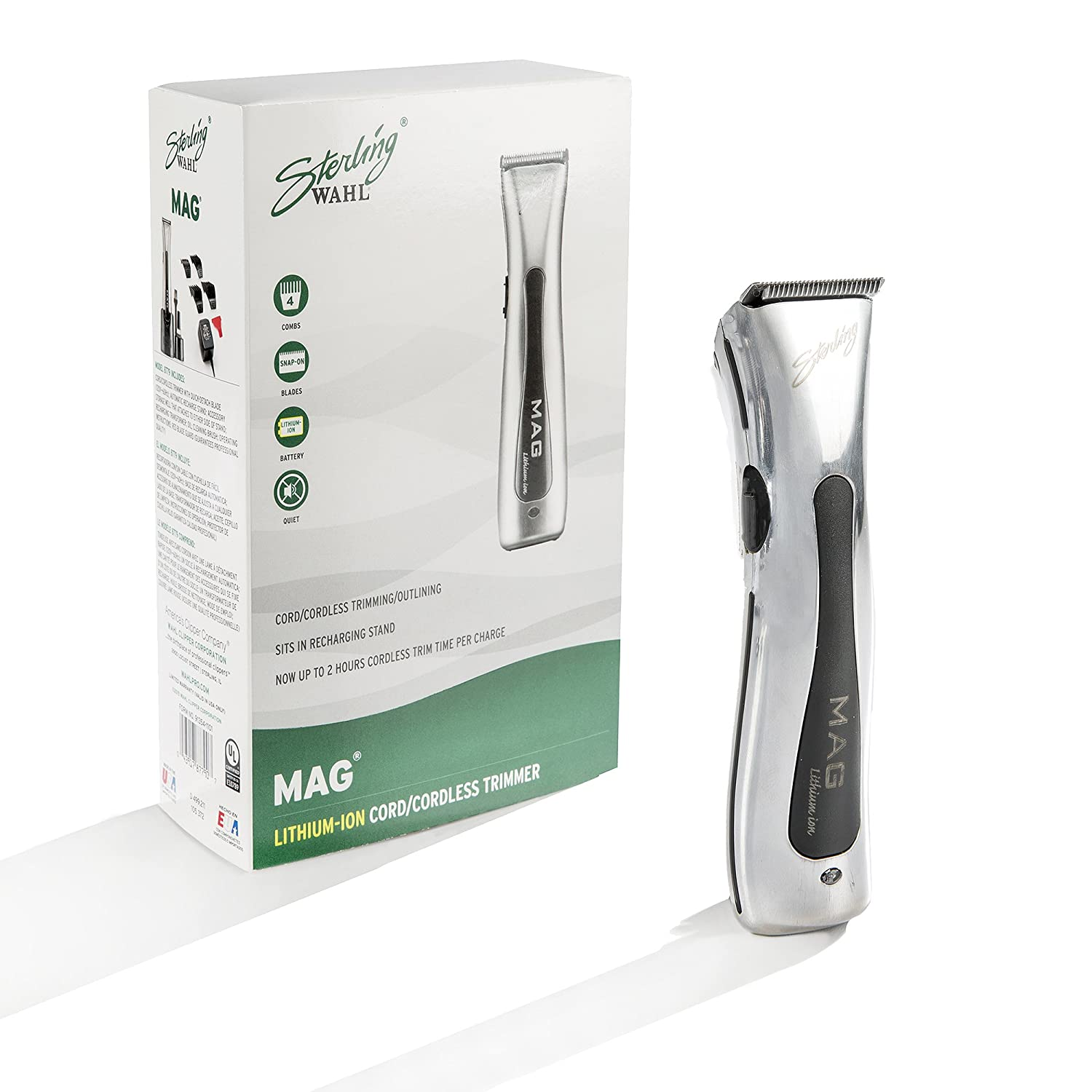 Wahl Professional Sterling Mag Trimmer 8779 Great for Professional Stylists and Barbers Rotary Motor Silver