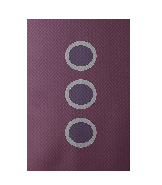Plum E by design RGN182PU5PU15-35 Zen Geometric Print Indoor//Outdoor Rug