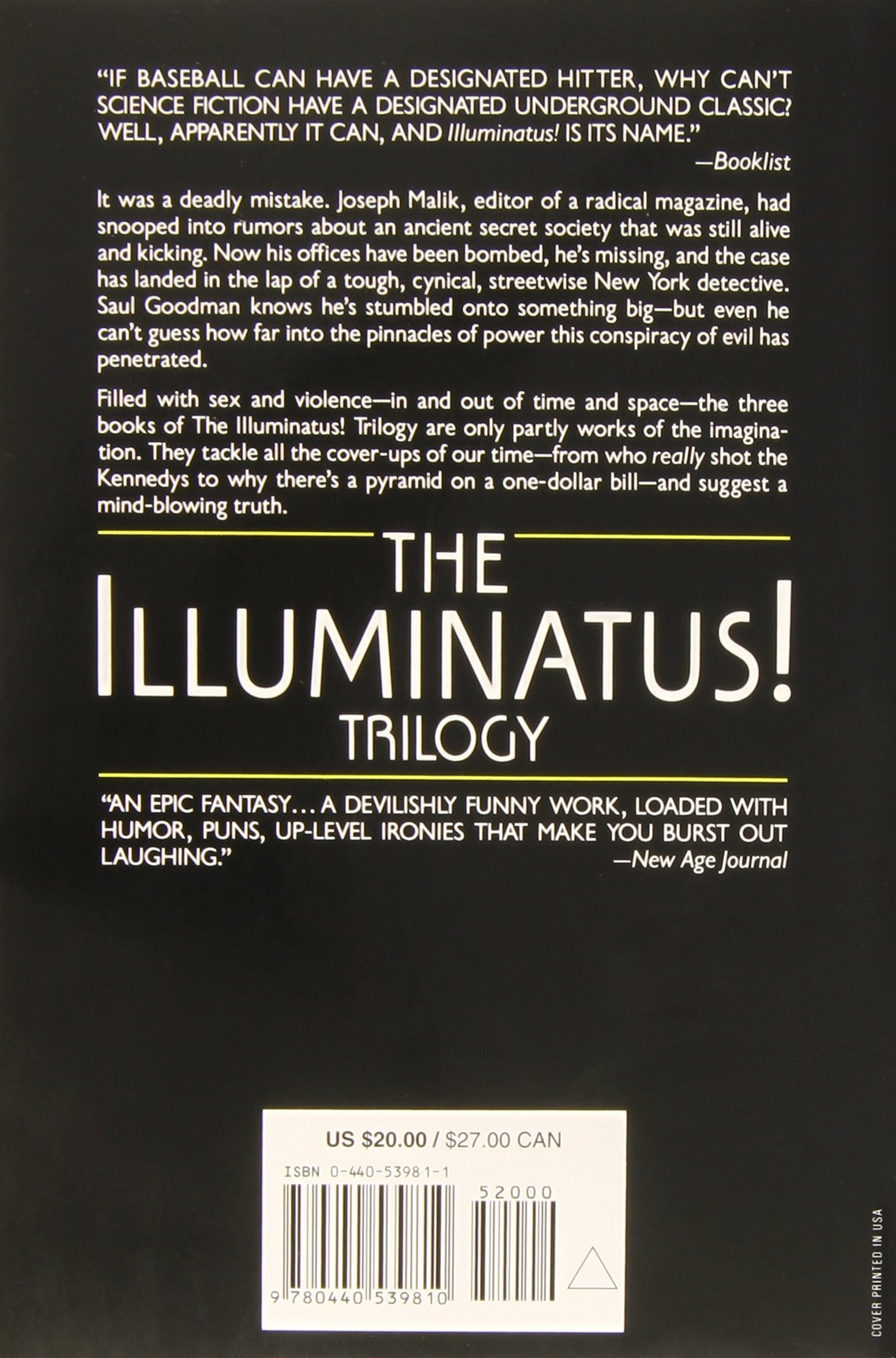 The Illuminatus Trilogy The Eye In The Pyramid The Golden Apple