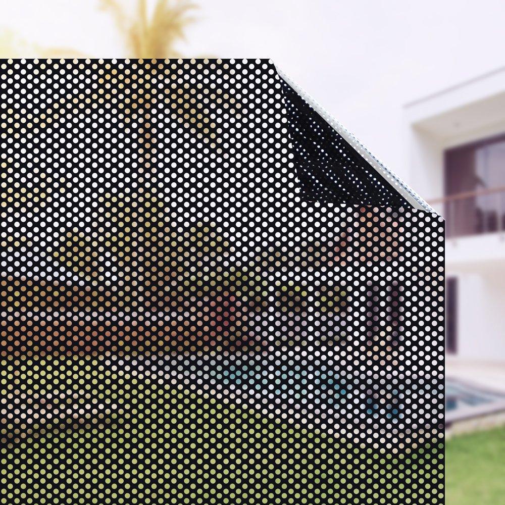 Plenty FlairブラックPerforatedビニールウィンドウフィルムを防ぐ鳥Strikeサイズin 17.7 in by 78.7 in B07D2WV93C