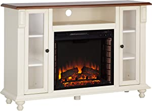 Southern Enterprises Aiden Lane Captio Electric Fireplace TV Stand - Antique White