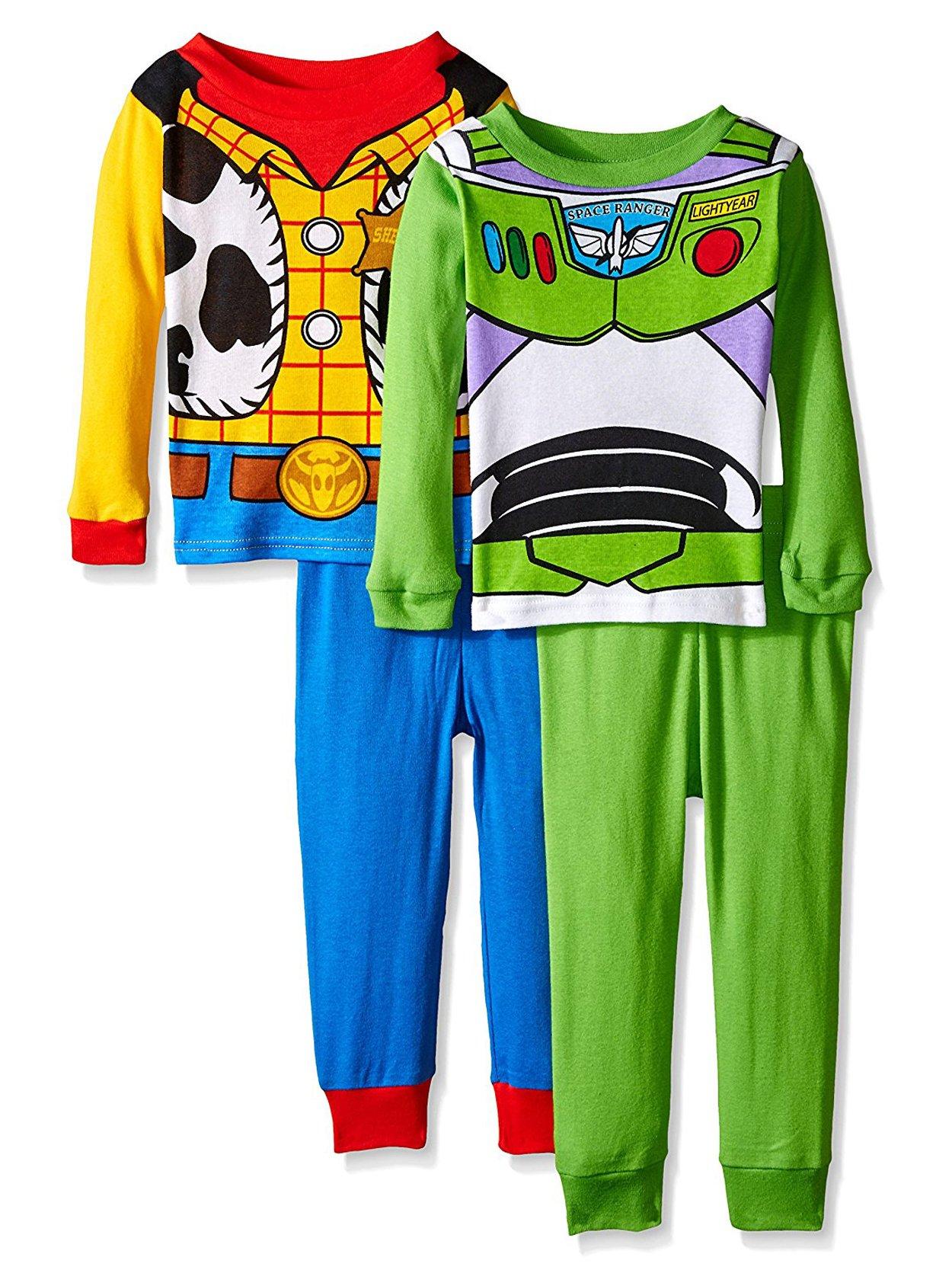 Toy Story Woody Buzz 4 piece Pajamas Set (Toddler)