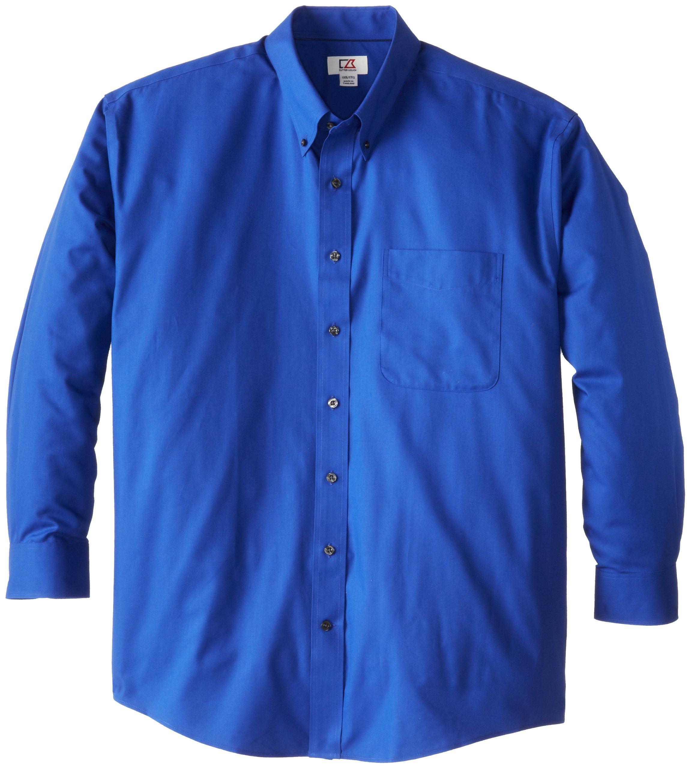 Cutter & Buck Men's Big-Tall Epic Easy Care Fine Twill Shirt, French Blue, 4XT