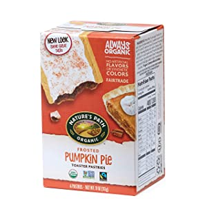 Nature's Path Frosted Pumpkin Pie Toaster Pastries, Healthy, Organic, 11-Ounce Box (Pack of 12)