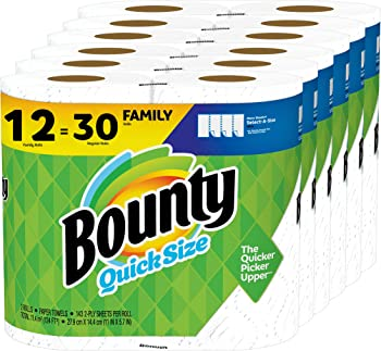12-Count Bounty Quick-Size Paper Towels Family Rolls