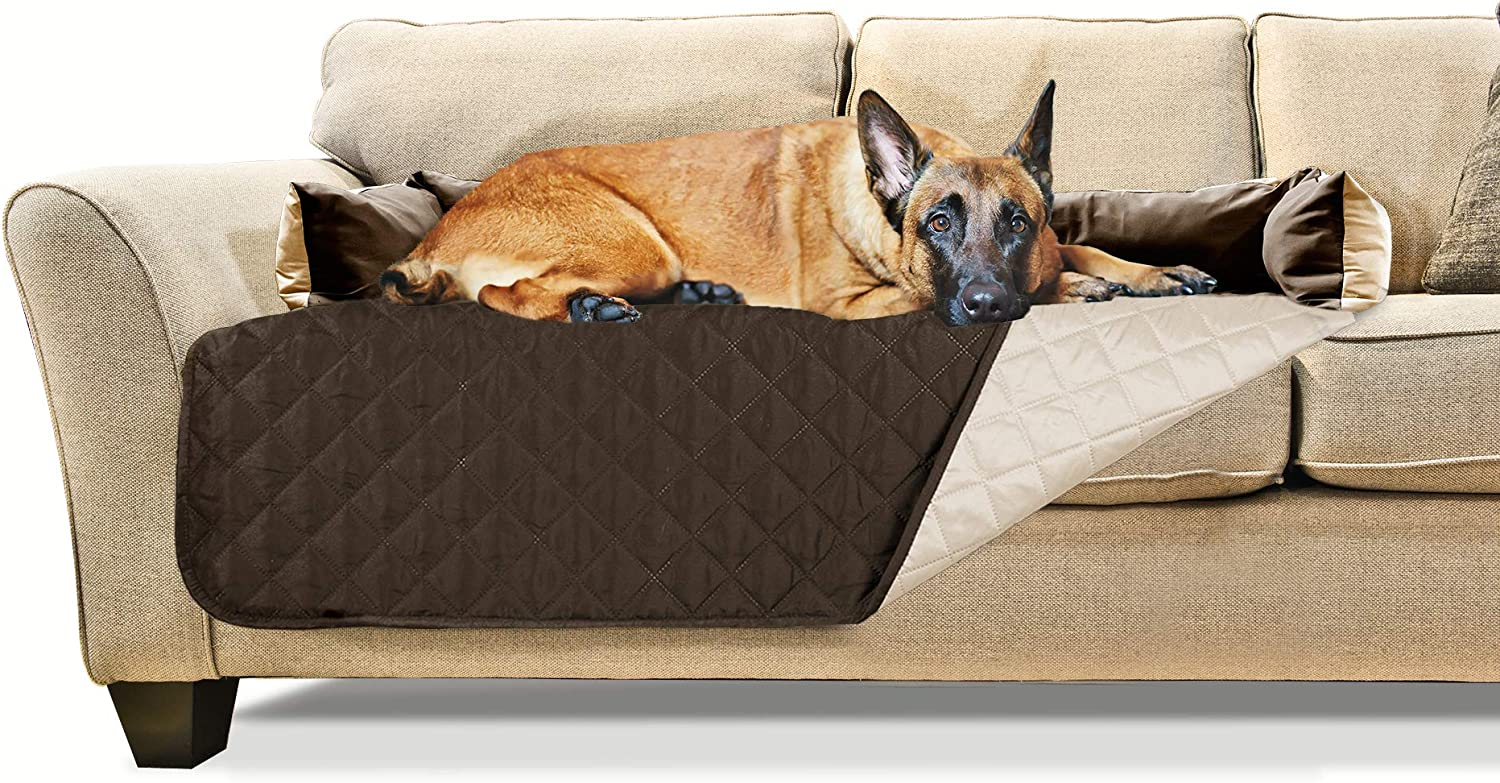 Furhaven Pet - Two-Tone Reversible Water-Resistant Living Room Furniture Sofa and Couch Furniture Cover Protector for Dogs and Cats - Multiple Styles, Sizes, and Colors