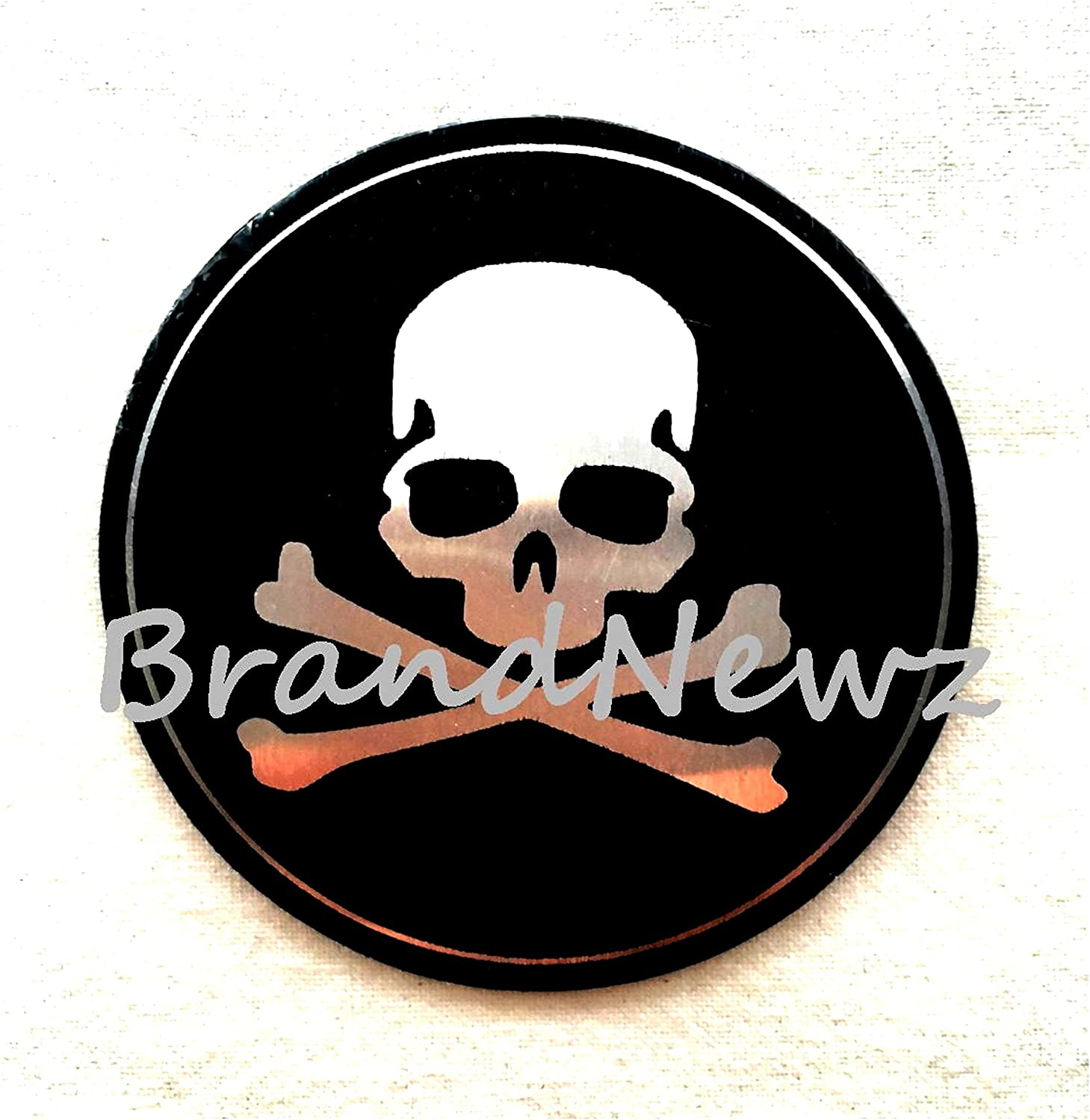 INDEPENDENT MANUFACTURE SKULL WITH CROSS BONE EMBLEM WHEEL CENTER CAP STICKERS LOGO BADGE WHEEL TRIM 65 MM DOME SET OF 4