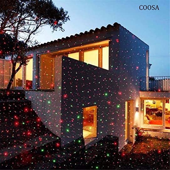 COOSA Projecteur de Lumiere Rouge et Vert Projecteur Extérieur Lumimère de  Jardin étanche Lampe Décorative de