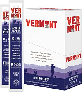 product image for Vermont Smoke & Cure Meat Sticks, Turkey, Antibiotic Free, Gluten Free, Ancho Pepper, 1oz Stick, 24 Count