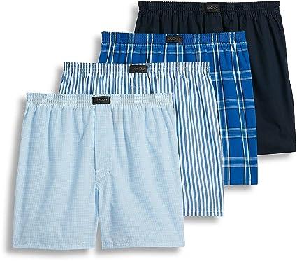 6b240a551c16 Jockey Men's Active Blend Woven Boxer 4-Pack, Best Navy Stripe/Blue Plaid,  XL at Amazon Men's Clothing store: