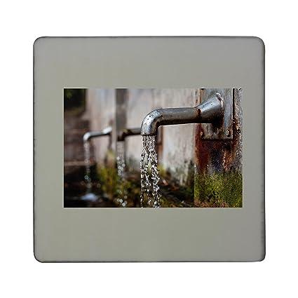 Grifo, pluma estilográfica, agua dispensador de tablero cuadrado imán para nevera